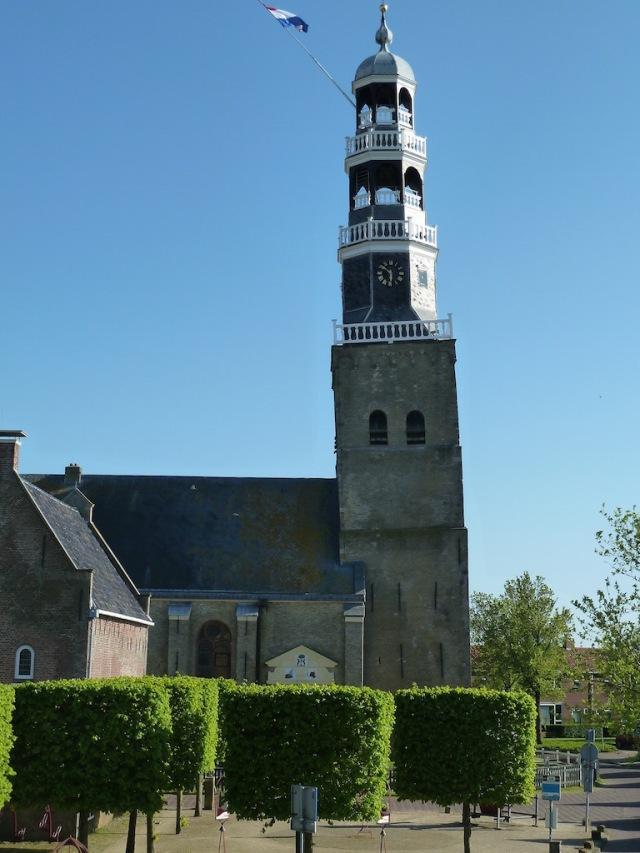 Hindeloopen schiefen Kirchturm